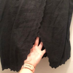 J. Crew Factory Tops - Black Open Back Linen Top